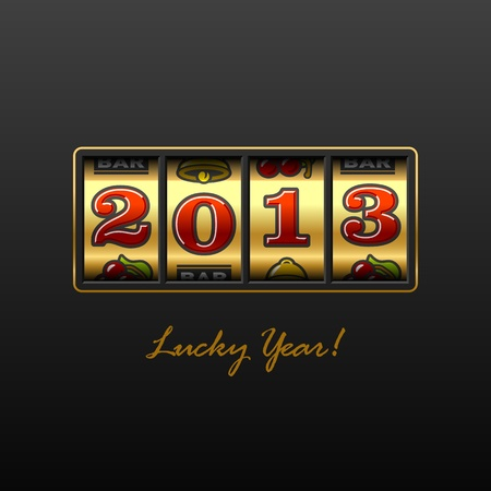 gambling counter: 2013 - Lucky Year  Illustration