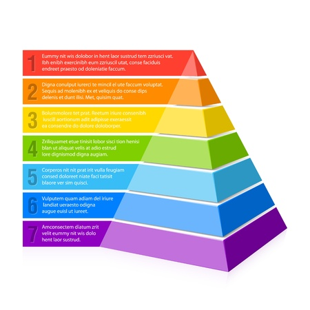 color chart: Pyramid chart Illustration