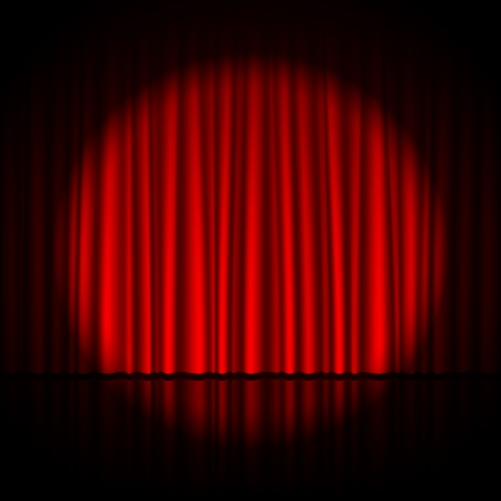 red theater curtain: Spotlight on stage
