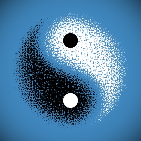 taoisme: Yin Yang symbool Stock Illustratie
