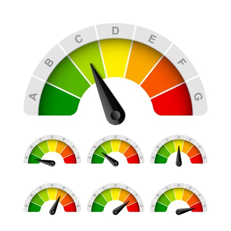 meter: Energy efficiency rating Illustration
