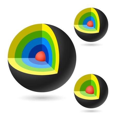 Cutaway sphere Stock Vector - 15753363