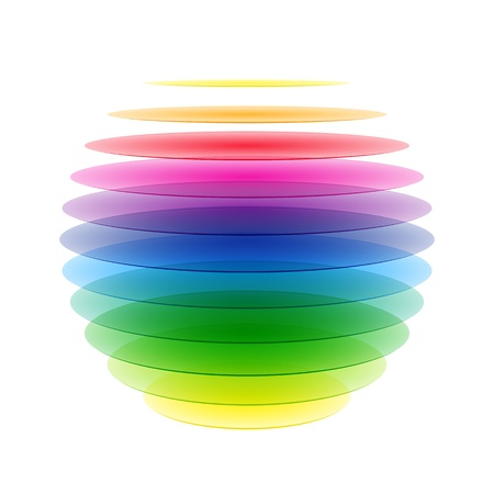 layered sphere: Rainbow sphere Illustration
