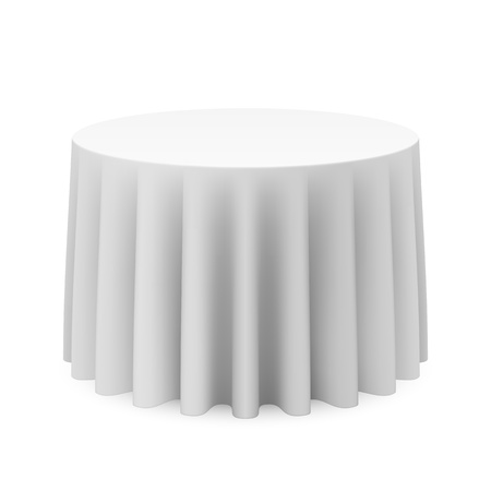 white cloth: Round tablecloth