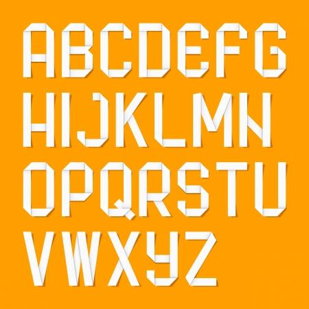 Origami alphabet letters Stock Vector - 16924117