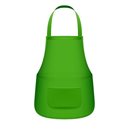 kitchen apron: Green kitchen apron