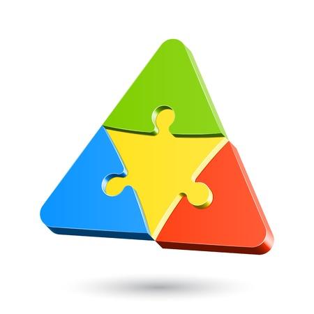 삼각형: 퍼즐 삼각형 일러스트