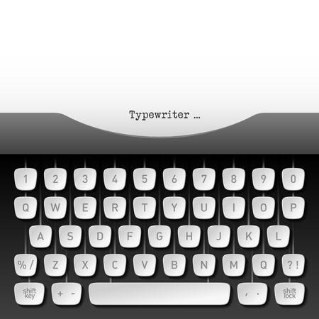 typewriter key: Typewriter