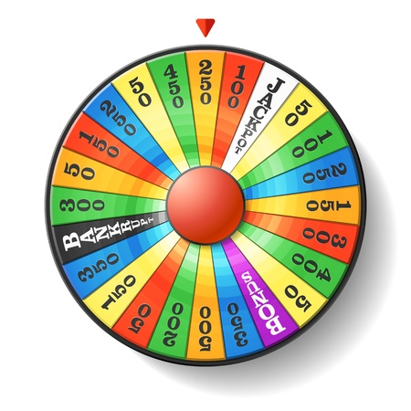 games of chance: Wheel of fortune