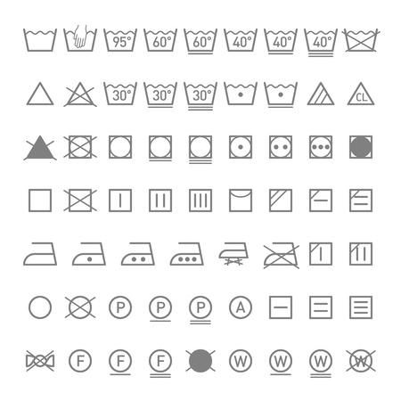 Symboles de blanchisserie