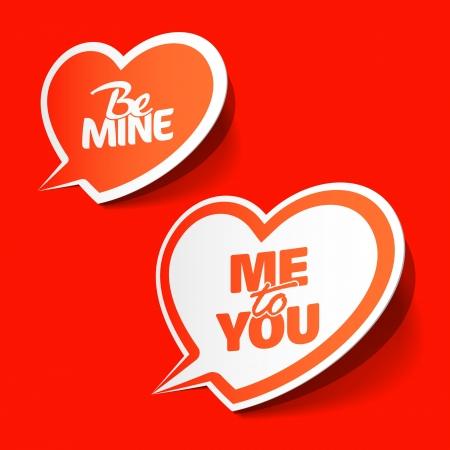 te: Be Mine y Me to You - burbujas enamorados