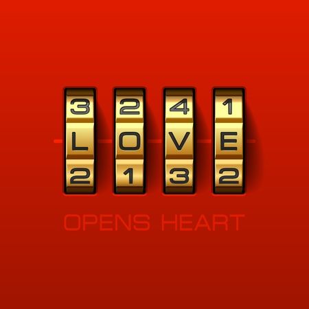 Love Opens Heart Stock Vector - 17585262