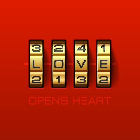 opens: Love Opens Heart Illustration