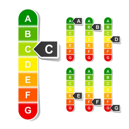 energy ranking: Energy efficiency rating Illustration
