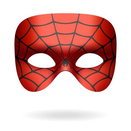Araña máscara Ilustración de vector