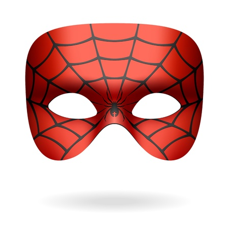web2: Spider mask Illustration