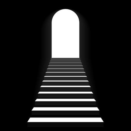 Trap naar boog deur