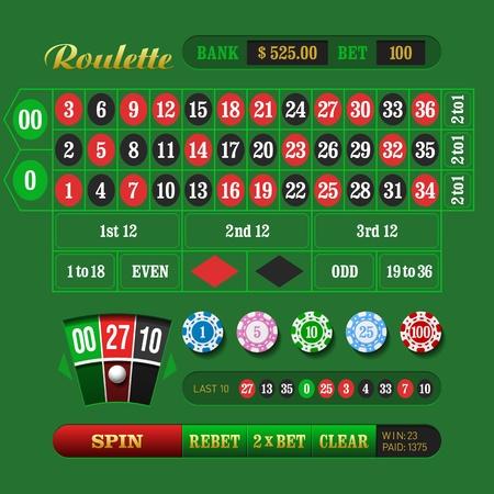 roulette: Americano Roulette Online Vettoriali