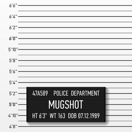 Policía mugshot Añadir una foto Ilustración de vector