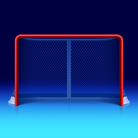 goal cage: Ice hockey net