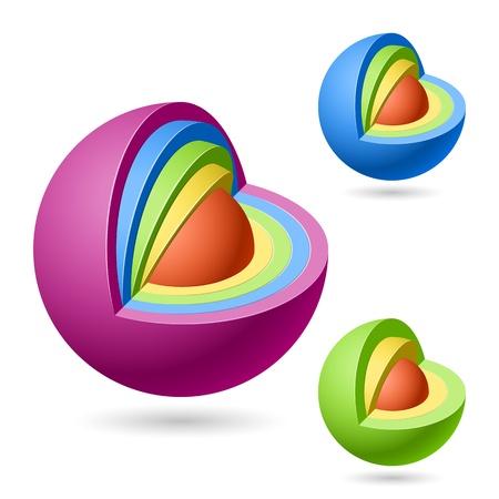 cut away: Cutaway sphere