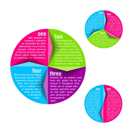 Circle diagram design template Vector