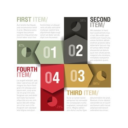 paper graphic: Four parts design template