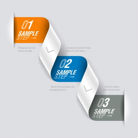 Consecutive steps design template Stock Vector - 18316911