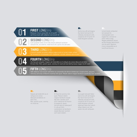 info graphics: Curved stripes design template