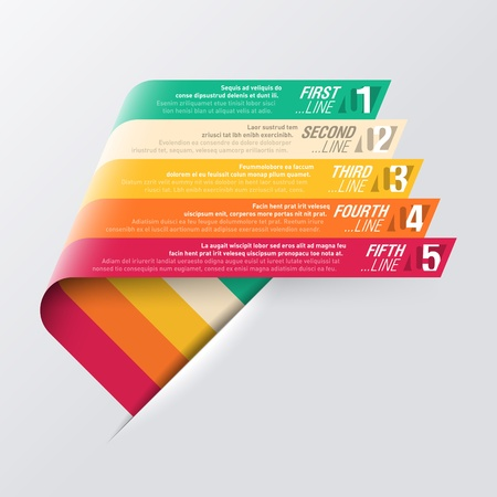 strip design: Curved stripes design template