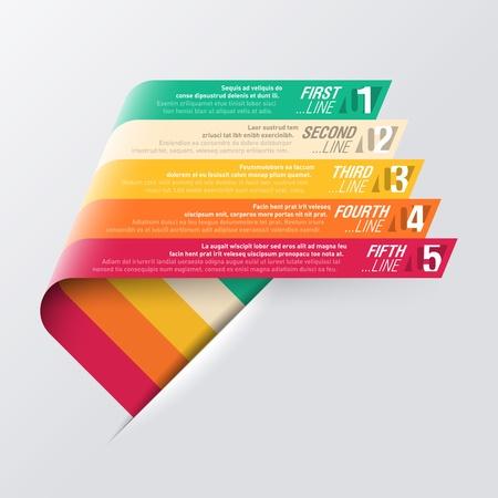 Gebogene Streifen-Design-Vorlage