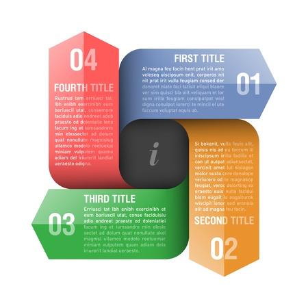 presentation template: Four directions arrows design template