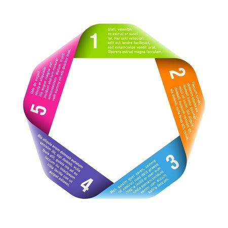 diagrama: Origami proceso del ciclo de elemento de dise�o Vectores