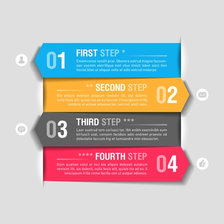 consecutive: Infographics design template Illustration