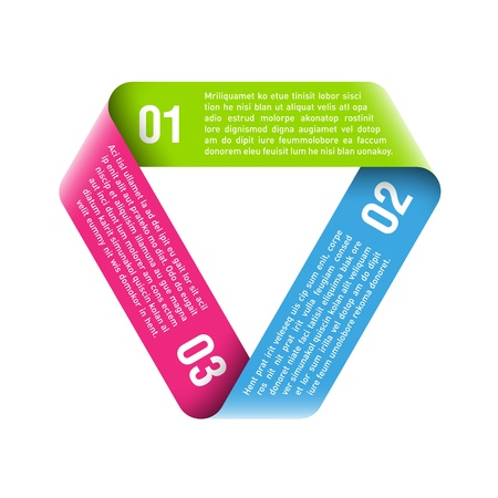 Origami processo del ciclo elemento di design Vettoriali