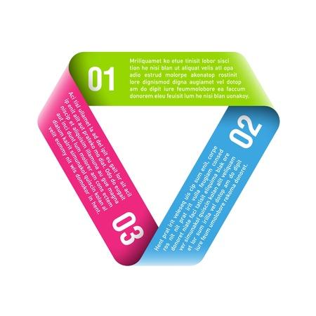 schleife: Origami Prozessablauf Design-Element