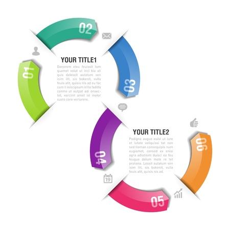 diagrama: Infograf�a plantilla de dise�o