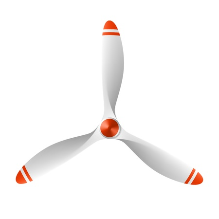 propeller: Airplane propeller with 3 blades