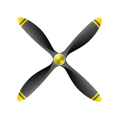 4 枚刃と飛行機のプロペラ