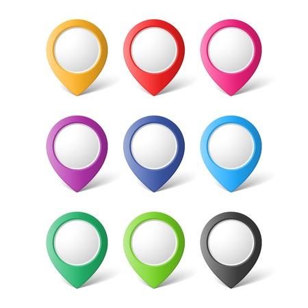 マップ ポインターのセット  イラスト・ベクター素材