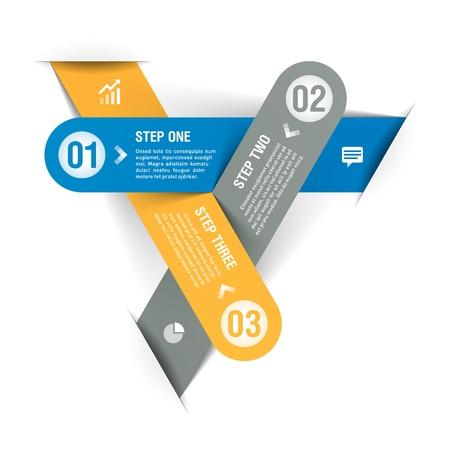 hoja cuadriculada: Infograf?a plantilla Modern