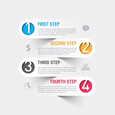 plantilla: Modern plantilla de infograf?a Vectores