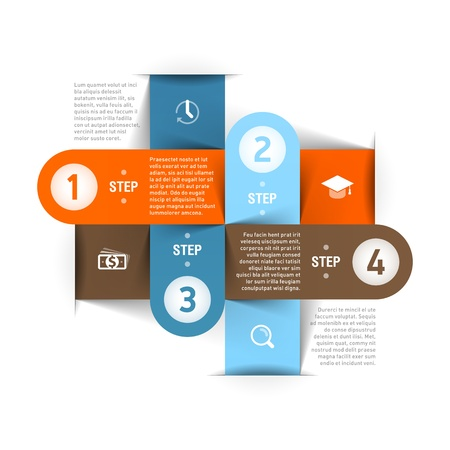 paper graphic: Modern business infographics template