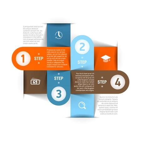 grafica: Modern plantilla de infograf?a Vectores