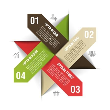 the arrow: Modern plantilla de infograf?a Vectores