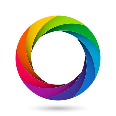 camera lens: Kleurrijke camera sluiter diafragma Stock Illustratie