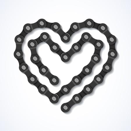 ciclismo: Corazón Cadena de la bicicleta