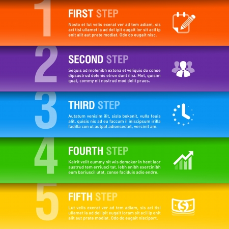 consecutive: Modern business infographics template