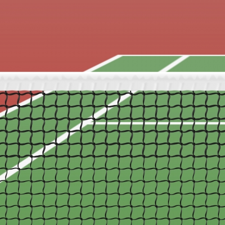 tennis net: Tennis court