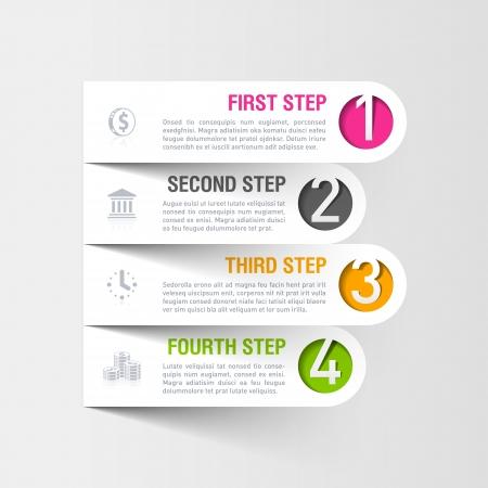 モダンなビジネス infographics テンプレート  イラスト・ベクター素材
